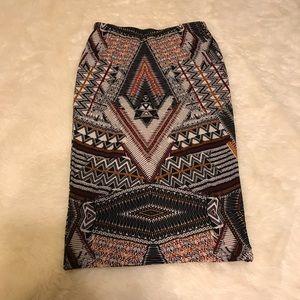 Tribal Print pencil skirt